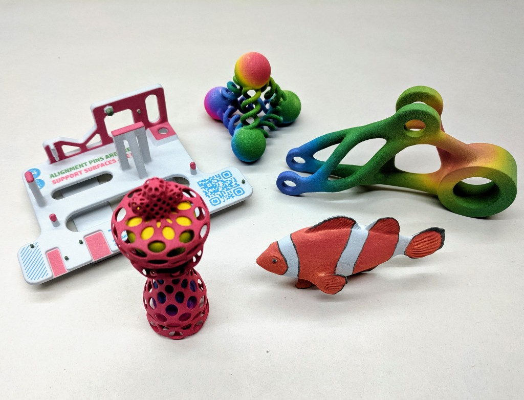 HP MJF Parts printed on the 580 full color