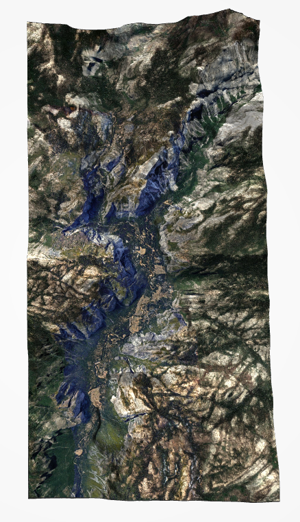 Yosemite Valley Topographical Map