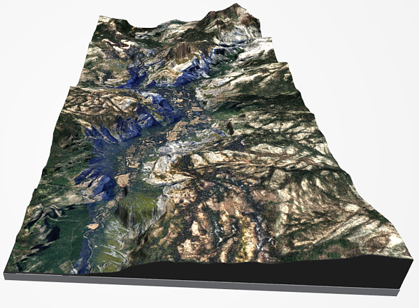 Yosemite valley topographic map